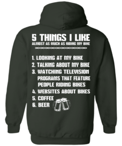 image 334 247x296px 5 Things I Like Almost As Much As Riding My Bike T Shirt