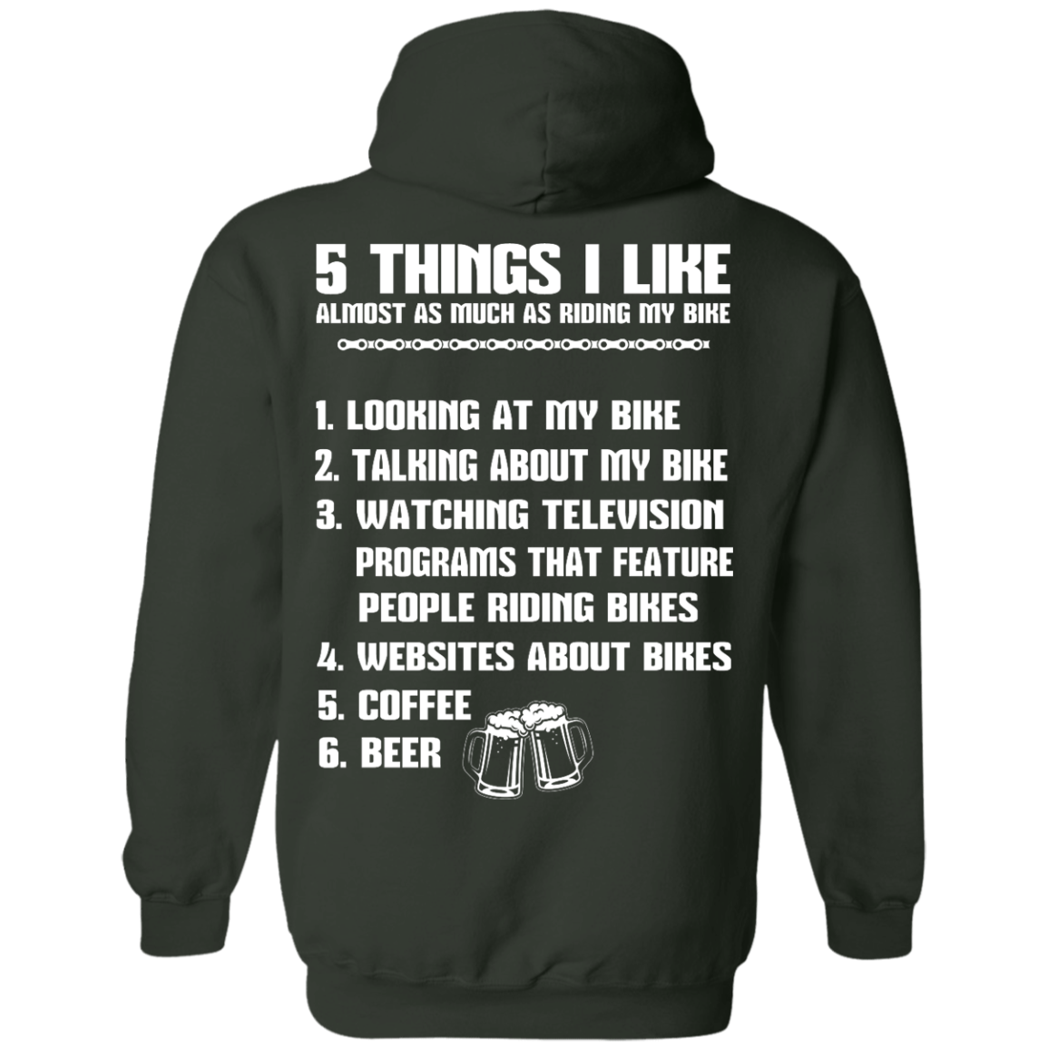 image 334px 5 Things I Like Almost As Much As Riding My Bike T Shirt