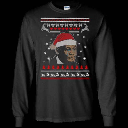 image 337 490x490px Crying Yordan Christmas Sweater, Long Sleeve