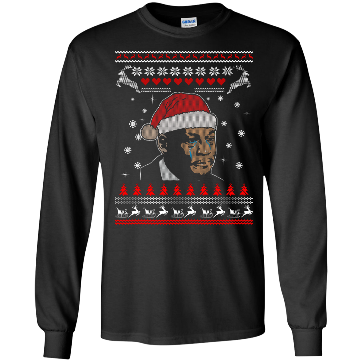 image 337px Crying Yordan Christmas Sweater, Long Sleeve