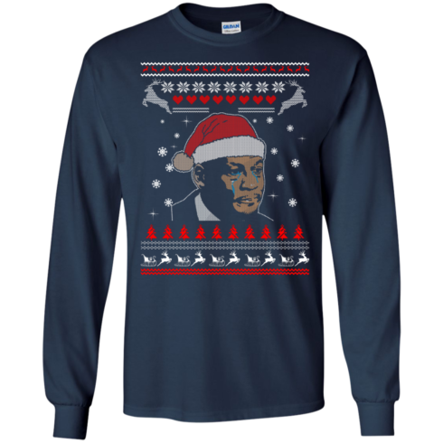 image 338 490x490px Crying Yordan Christmas Sweater, Long Sleeve