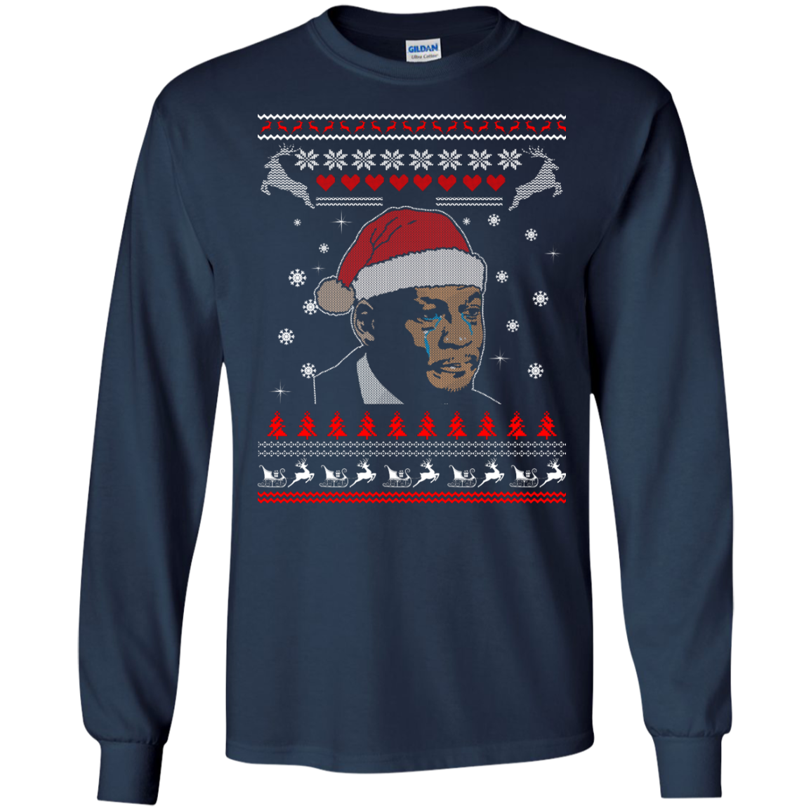 image 338px Crying Yordan Christmas Sweater, Long Sleeve