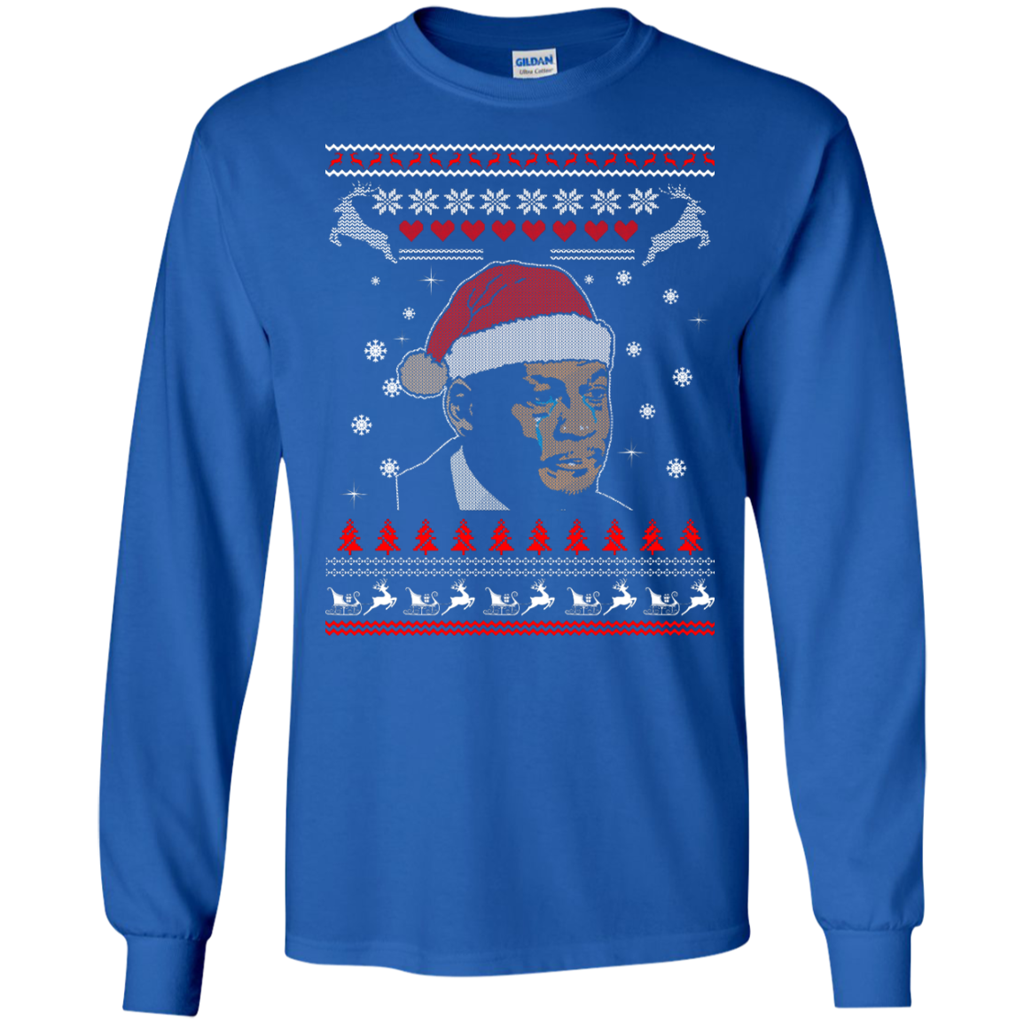 image 339px Crying Yordan Christmas Sweater, Long Sleeve