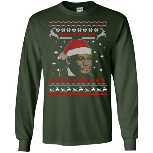 image 340 490x490px Crying Yordan Christmas Sweater, Long Sleeve
