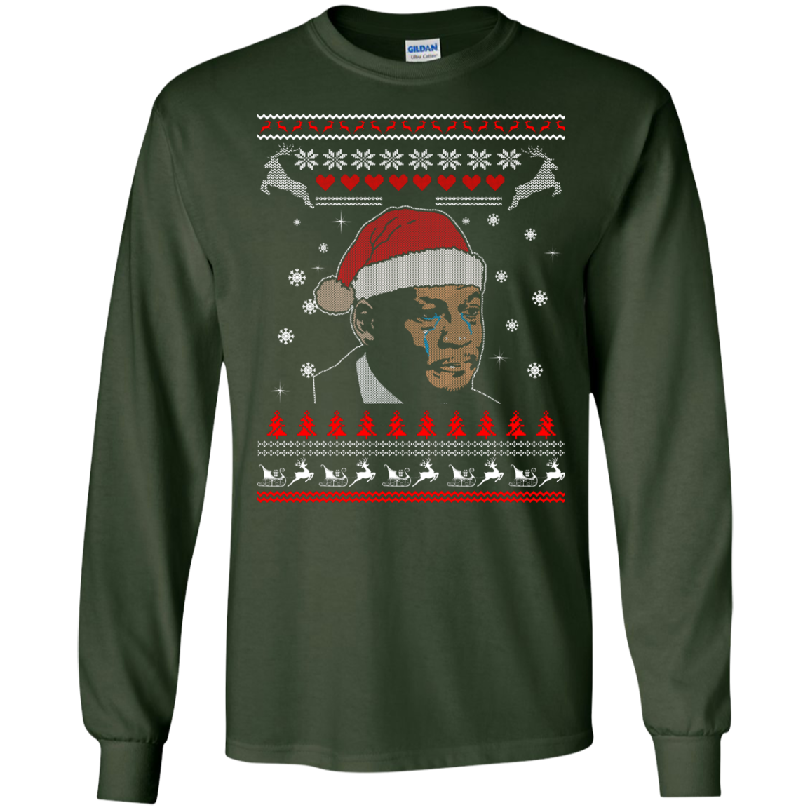 image 340px Crying Yordan Christmas Sweater, Long Sleeve