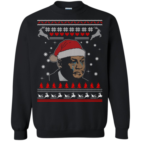 image 341 490x490px Crying Yordan Christmas Sweater, Long Sleeve