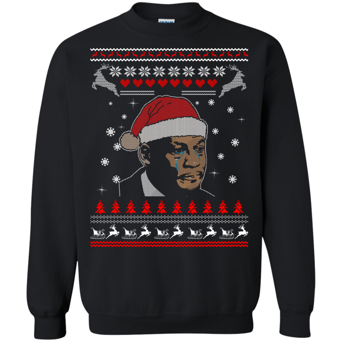 image 341px Crying Yordan Christmas Sweater, Long Sleeve