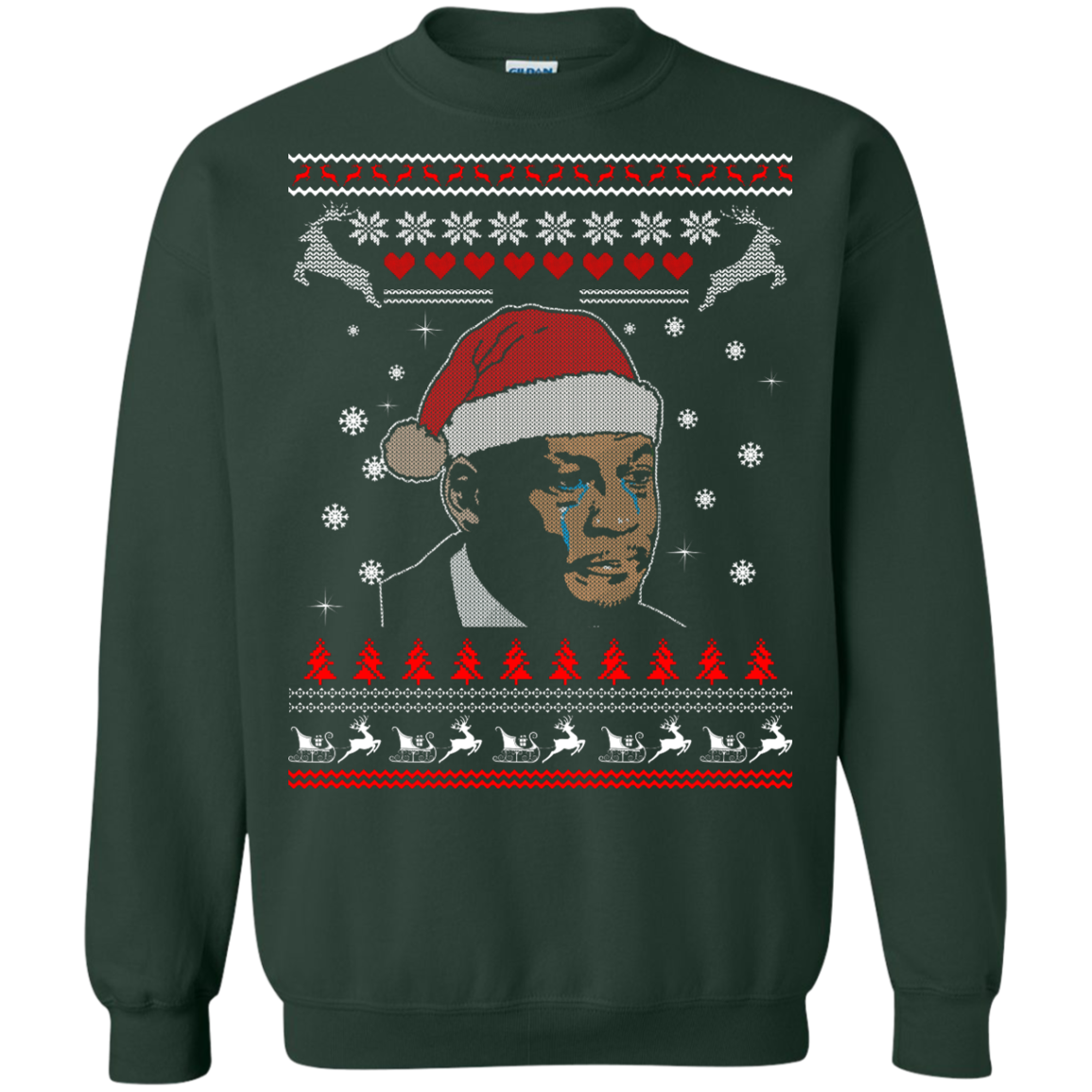 image 342px Crying Yordan Christmas Sweater, Long Sleeve