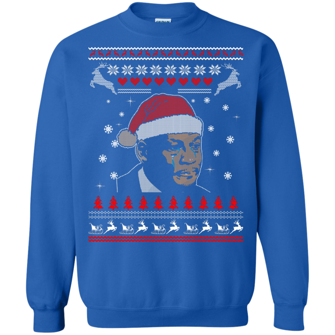 image 343px Crying Yordan Christmas Sweater, Long Sleeve