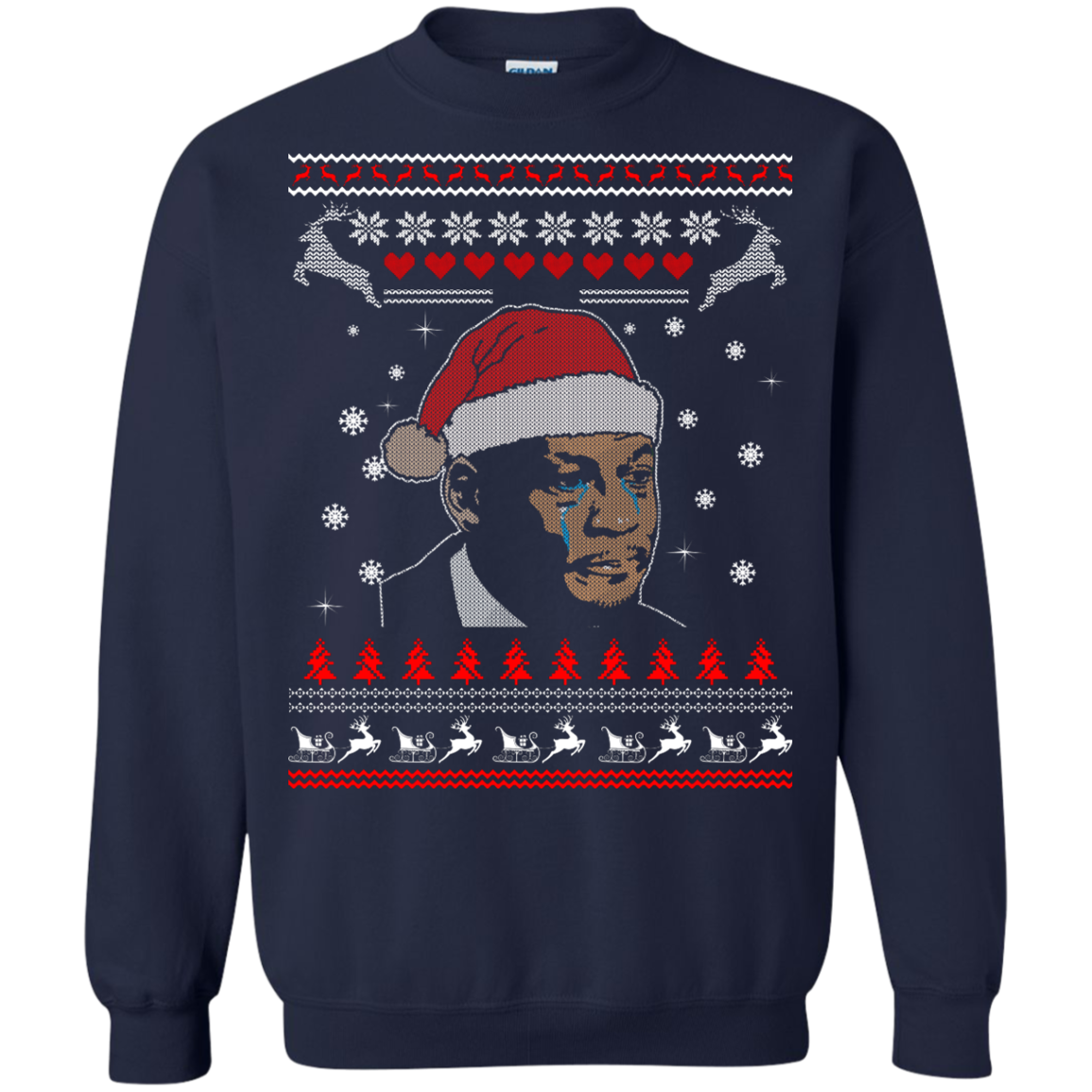 image 344px Crying Yordan Christmas Sweater, Long Sleeve