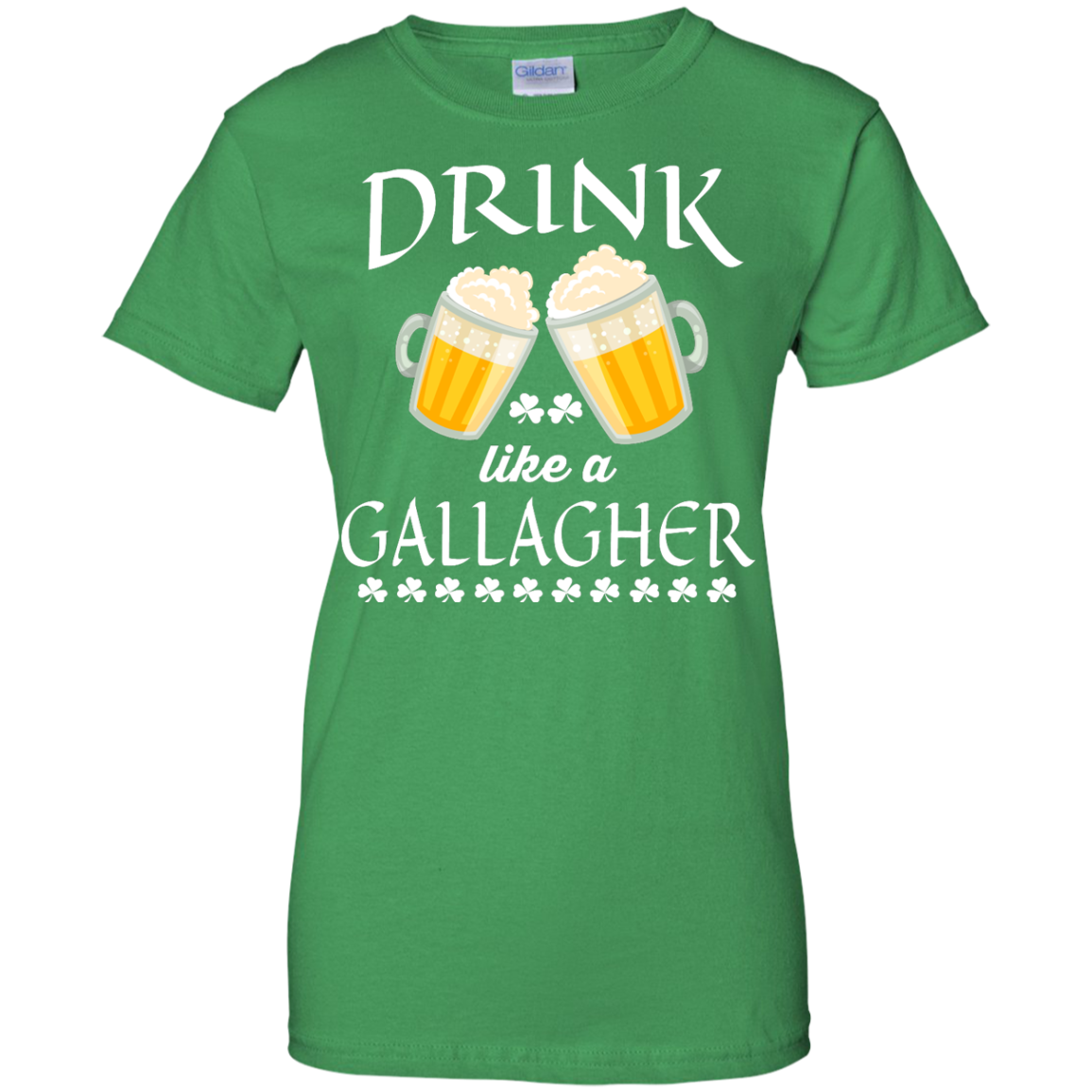 image 38px St Patrick's Day: Drink Like A Gallagher T Shirt