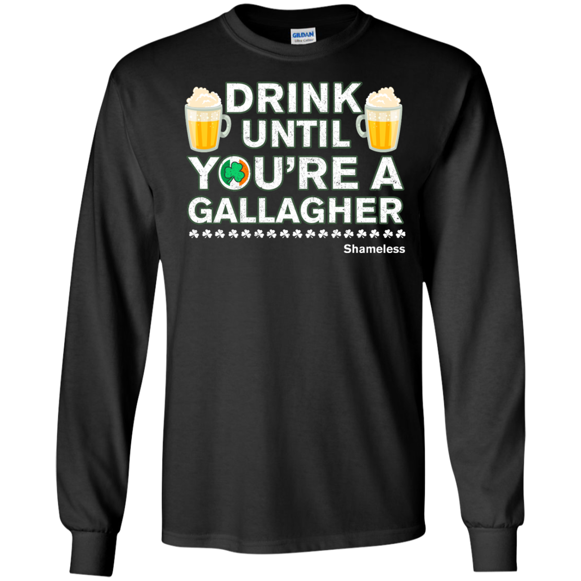 image 4px St Patrick's Day: Drink Until You Are A Gallagher T Shirt