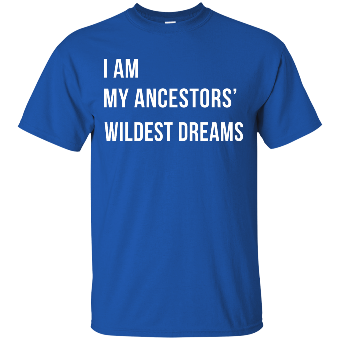 image 461px I am my ancestor wildest dreams t shirt