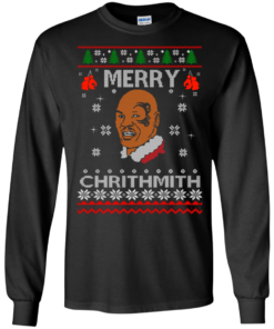 image 557 247x296px Merry Chrithmith Mike Tyson Ugly Christmas Sweater, T shirt