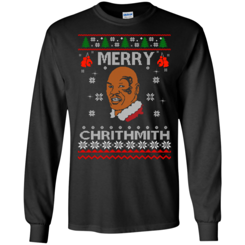 image 557 490x490px Merry Chrithmith Mike Tyson Ugly Christmas Sweater, T shirt