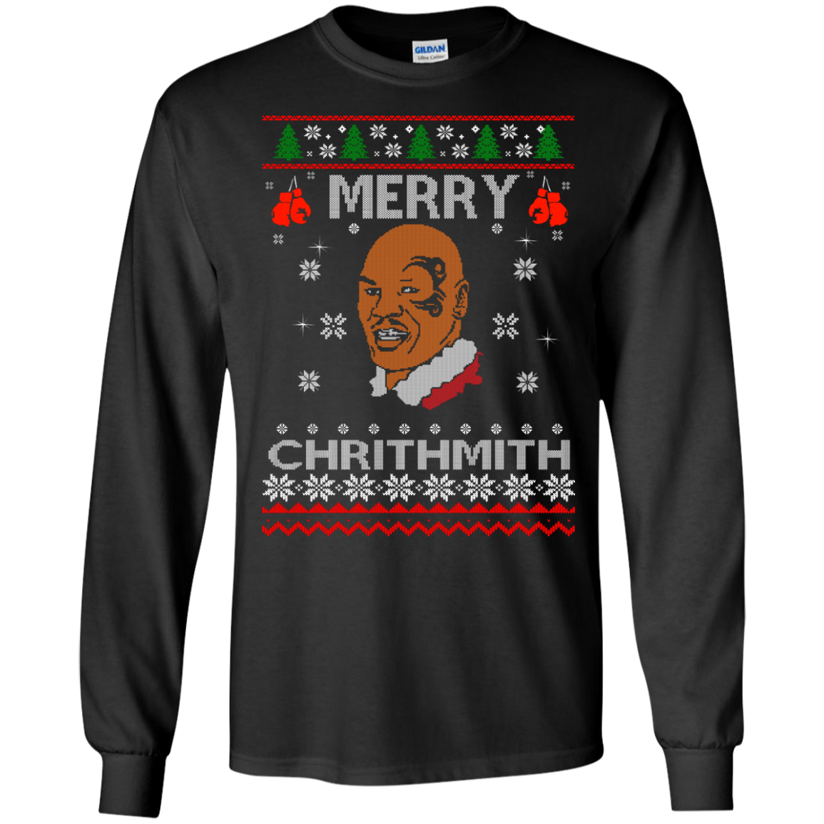 image 557px Merry Chrithmith Mike Tyson Ugly Christmas Sweater, T shirt