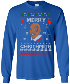 image 558 247x296px Merry Chrithmith Mike Tyson Ugly Christmas Sweater, T shirt