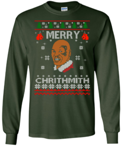 image 559 247x296px Merry Chrithmith Mike Tyson Ugly Christmas Sweater, T shirt