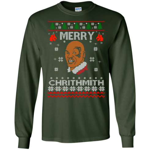 image 559 490x490px Merry Chrithmith Mike Tyson Ugly Christmas Sweater, T shirt
