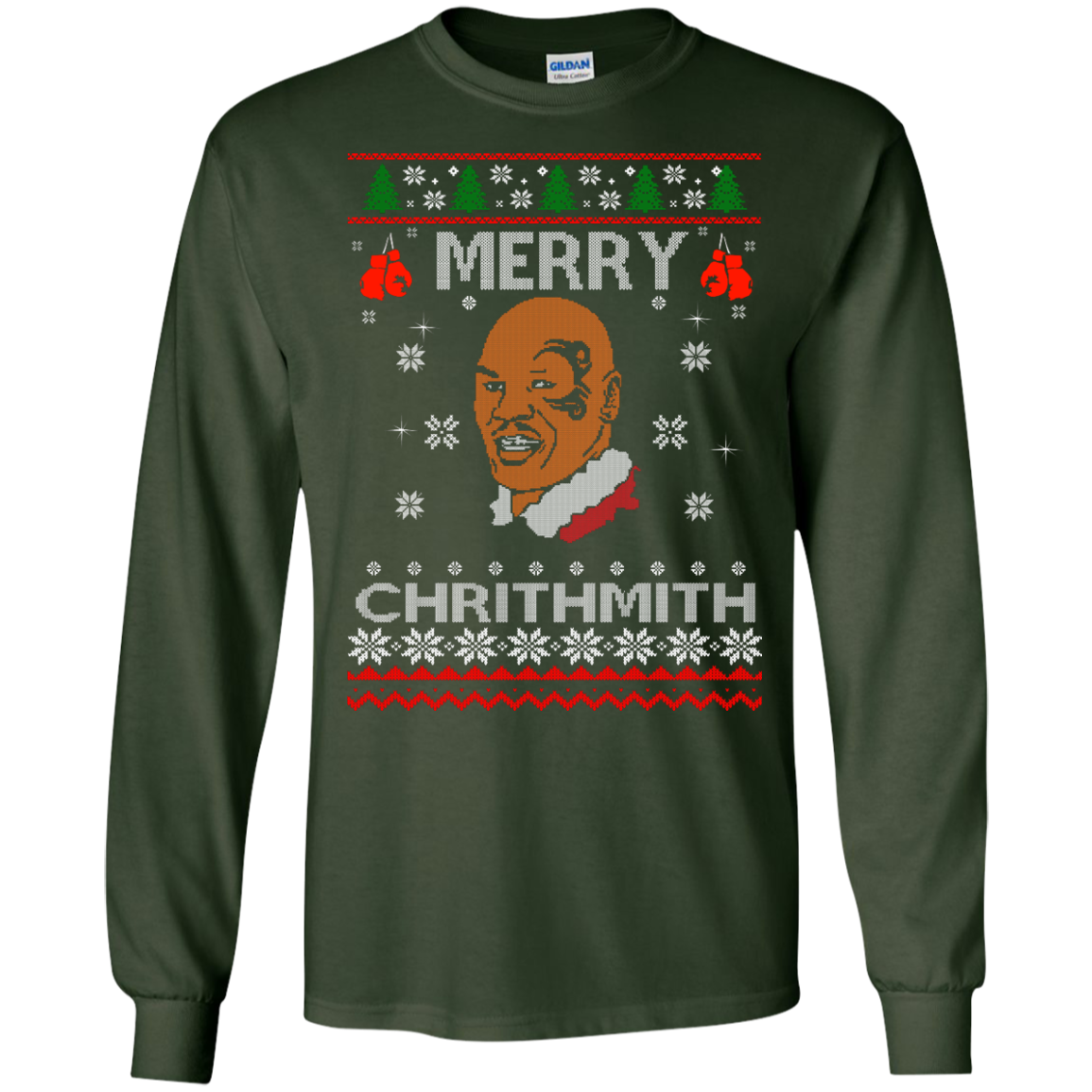 image 559px Merry Chrithmith Mike Tyson Ugly Christmas Sweater, T shirt