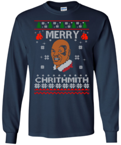 image 560 247x296px Merry Chrithmith Mike Tyson Ugly Christmas Sweater, T shirt