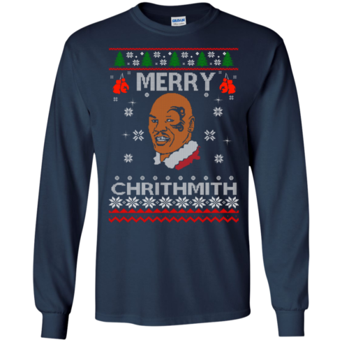 image 560 490x490px Merry Chrithmith Mike Tyson Ugly Christmas Sweater, T shirt