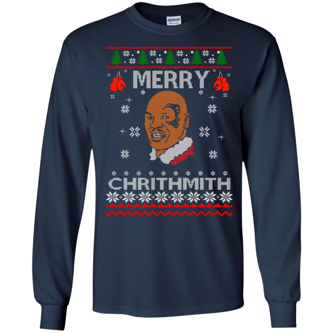 image 560px Merry Chrithmith Mike Tyson Ugly Christmas Sweater, T shirt