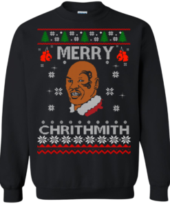 image 561 247x296px Merry Chrithmith Mike Tyson Ugly Christmas Sweater, T shirt