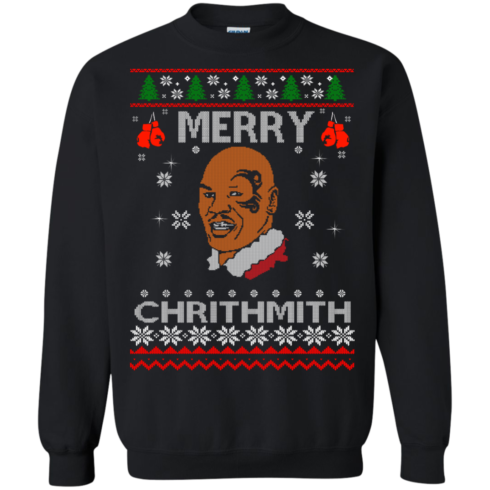 image 561 490x490px Merry Chrithmith Mike Tyson Ugly Christmas Sweater, T shirt