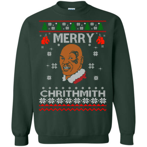 image 562 490x490px Merry Chrithmith Mike Tyson Ugly Christmas Sweater, T shirt
