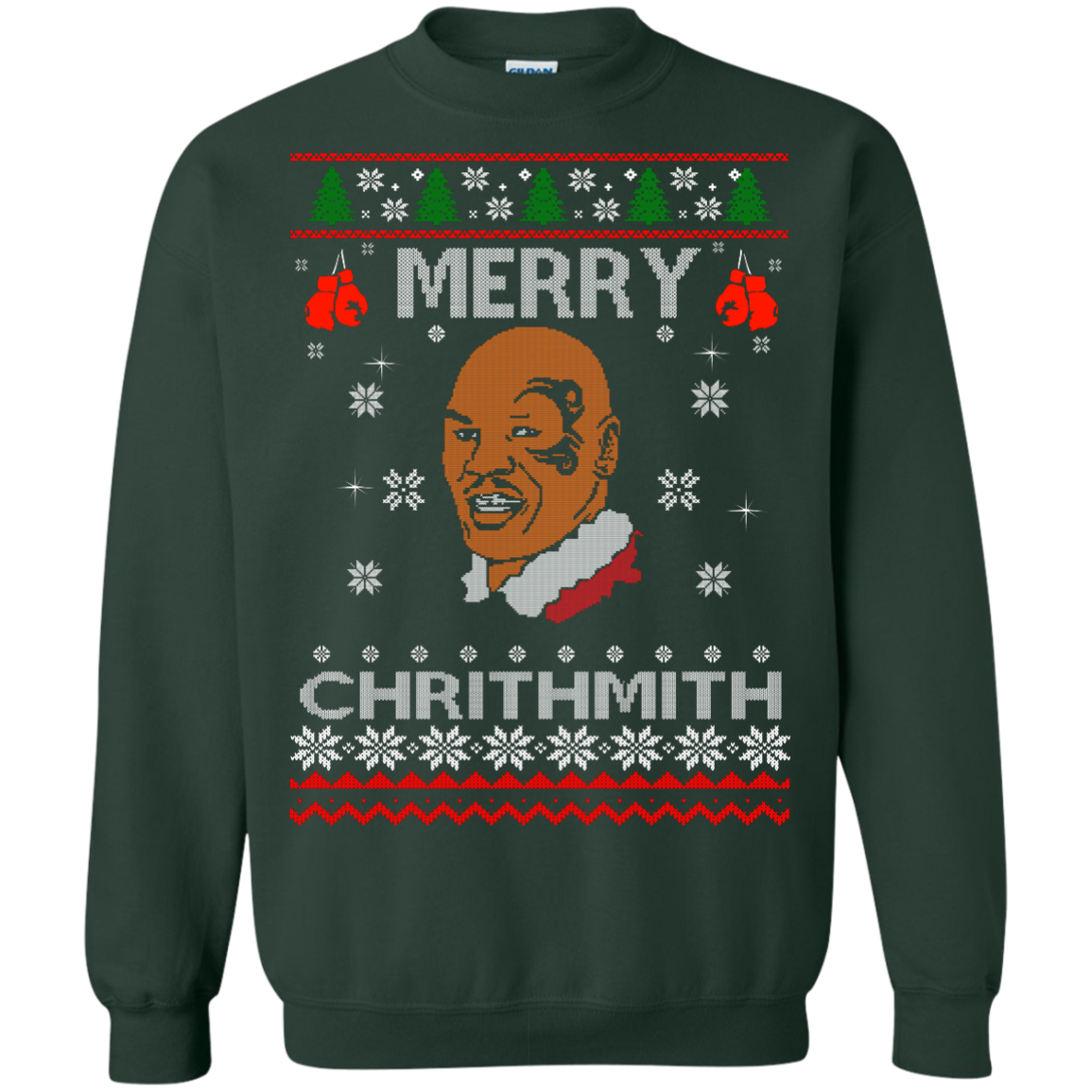 image 562px Merry Chrithmith Mike Tyson Ugly Christmas Sweater, T shirt