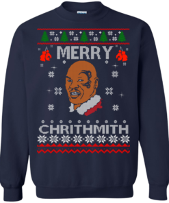 image 563 247x296px Merry Chrithmith Mike Tyson Ugly Christmas Sweater, T shirt