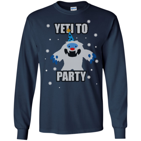 image 571 490x490px Yeti To Party Christmas Sweater
