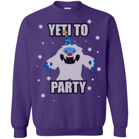 image 576 490x490px Yeti To Party Christmas Sweater