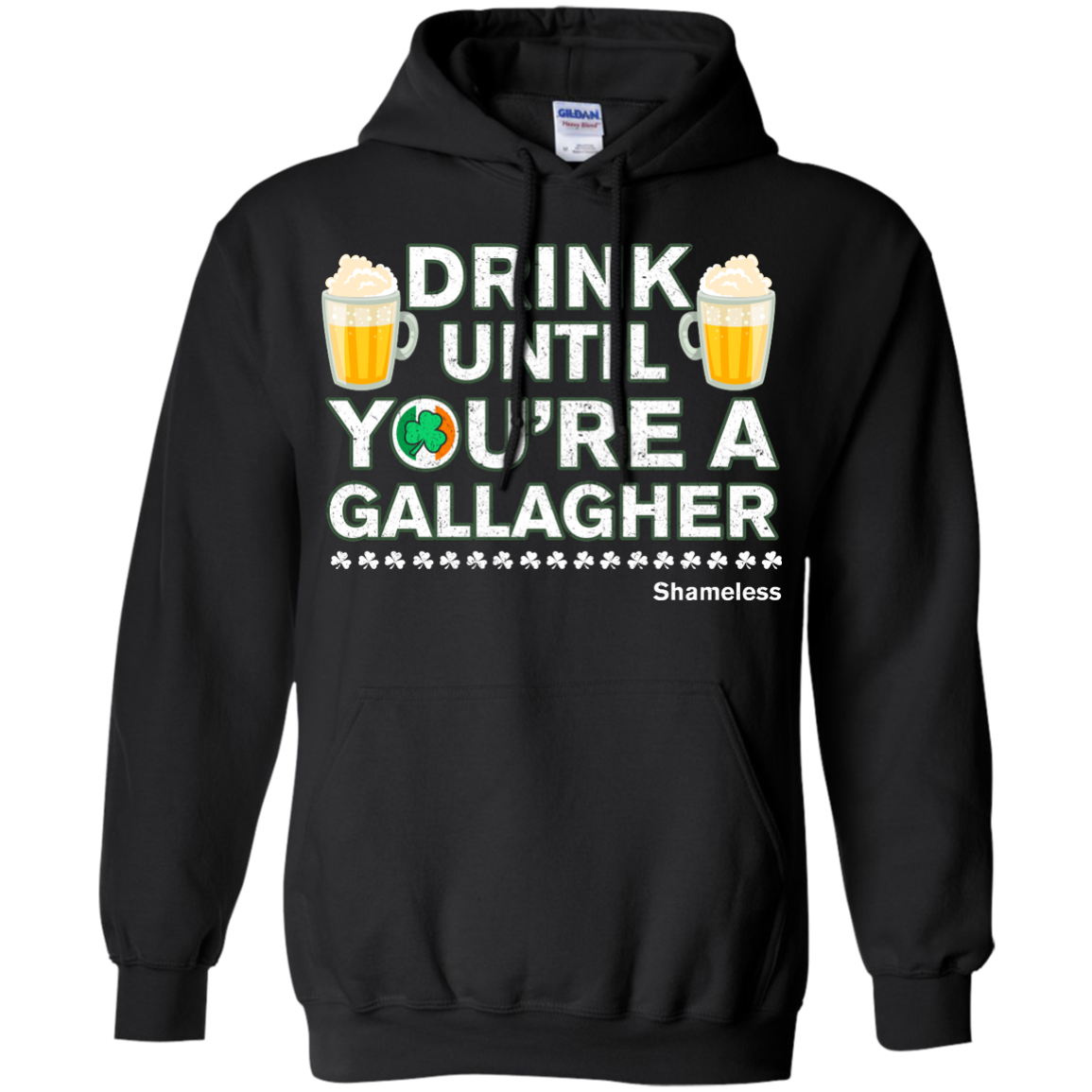 image 6px St Patrick's Day: Drink Until You Are A Gallagher T Shirt