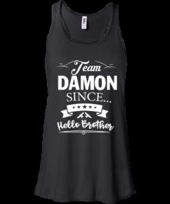 image 666 247x296px Team Damon Since Hello Brother. Damon Salvatore T Shirt