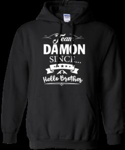 image 668 247x296px Team Damon Since Hello Brother. Damon Salvatore T Shirt