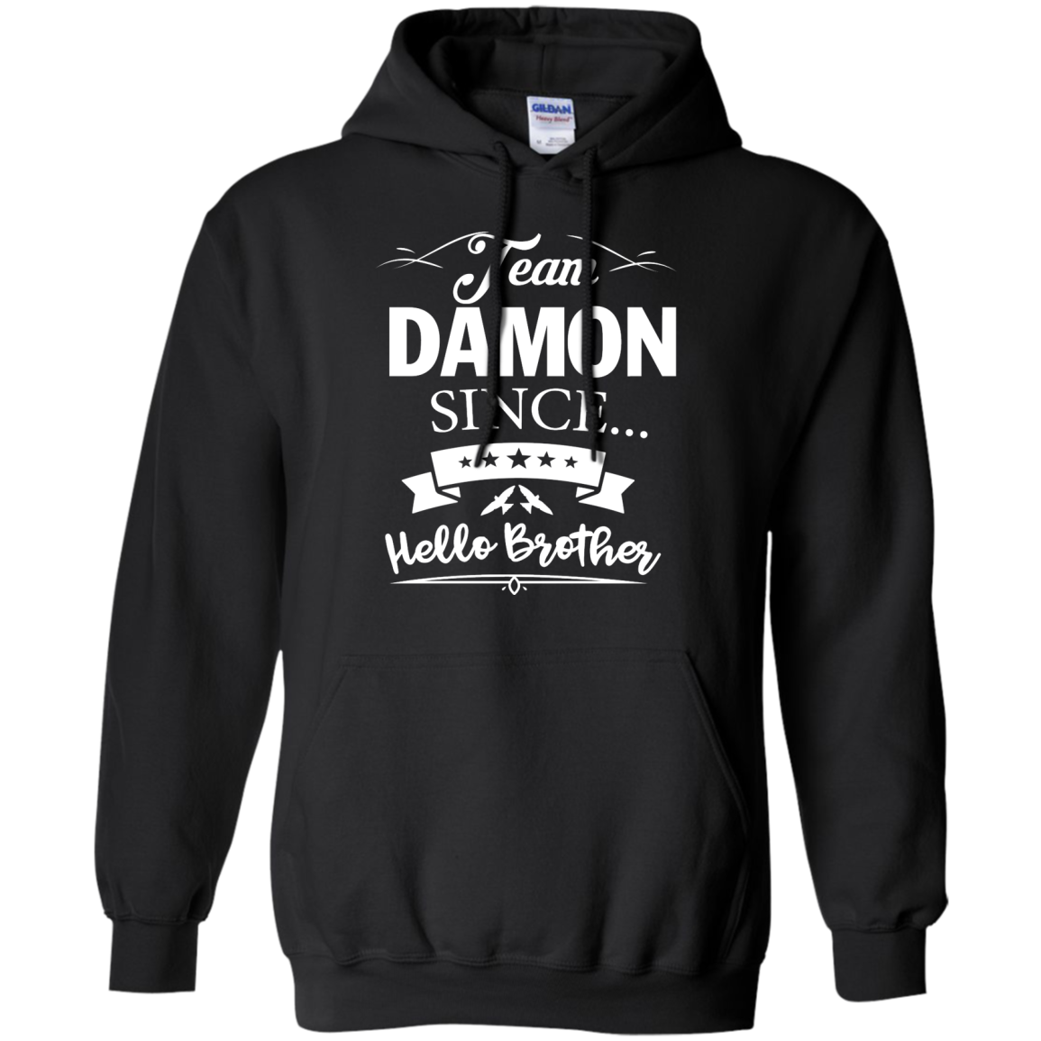 image 668px Team Damon Since Hello Brother. Damon Salvatore T Shirt