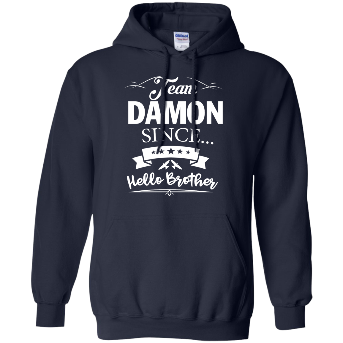 image 669px Team Damon Since Hello Brother. Damon Salvatore T Shirt