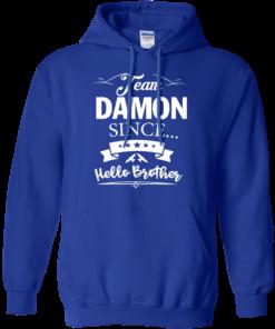 image 670 247x296px Team Damon Since Hello Brother. Damon Salvatore T Shirt