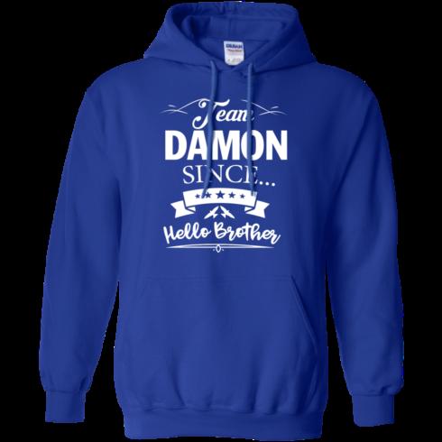 image 670 490x490px Team Damon Since Hello Brother. Damon Salvatore T Shirt