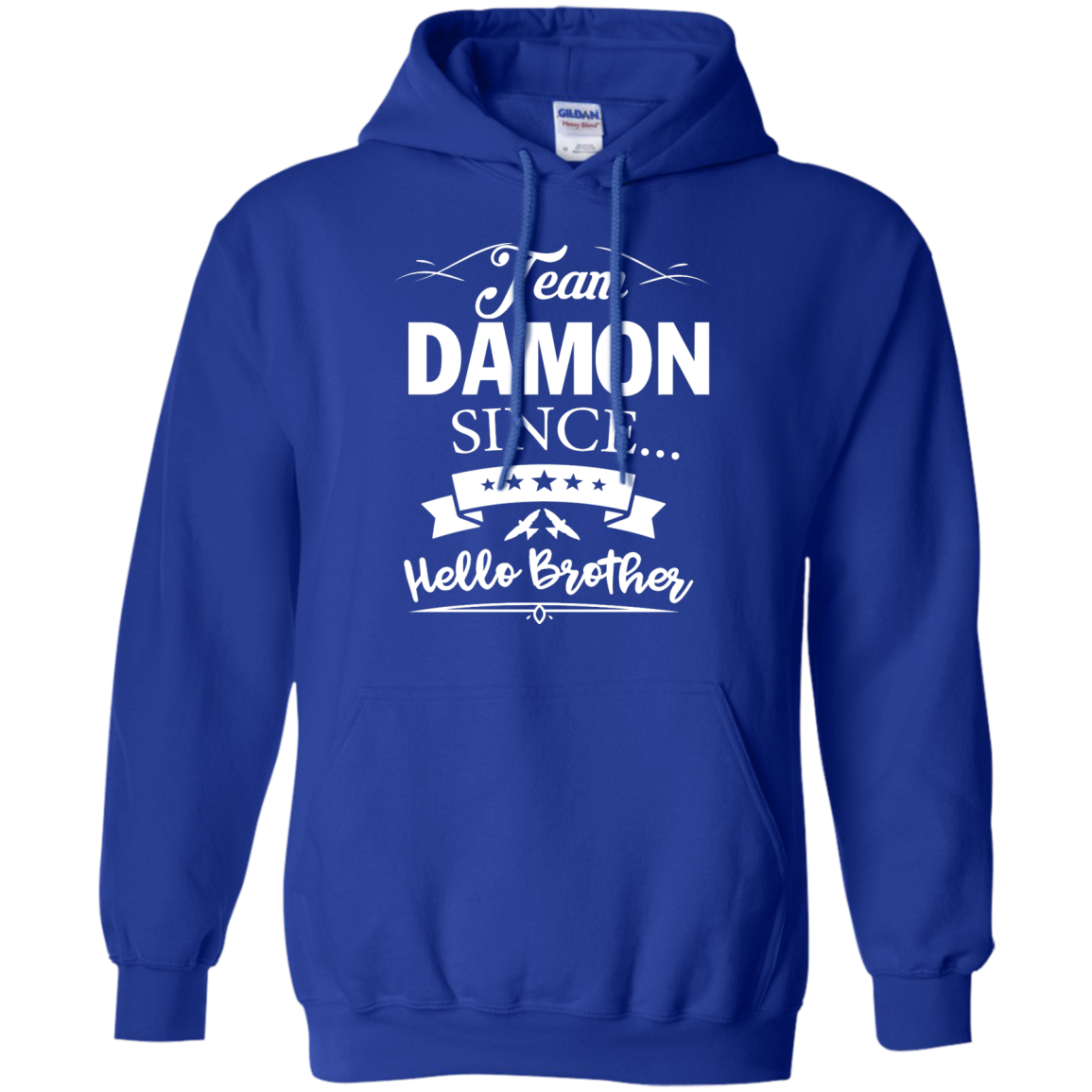image 670px Team Damon Since Hello Brother. Damon Salvatore T Shirt