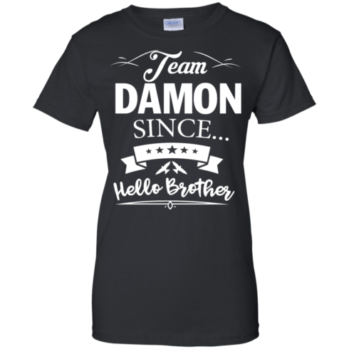 image 671 490x490px Team Damon Since Hello Brother. Damon Salvatore T Shirt
