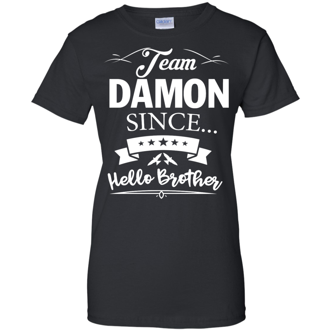 image 671px Team Damon Since Hello Brother. Damon Salvatore T Shirt