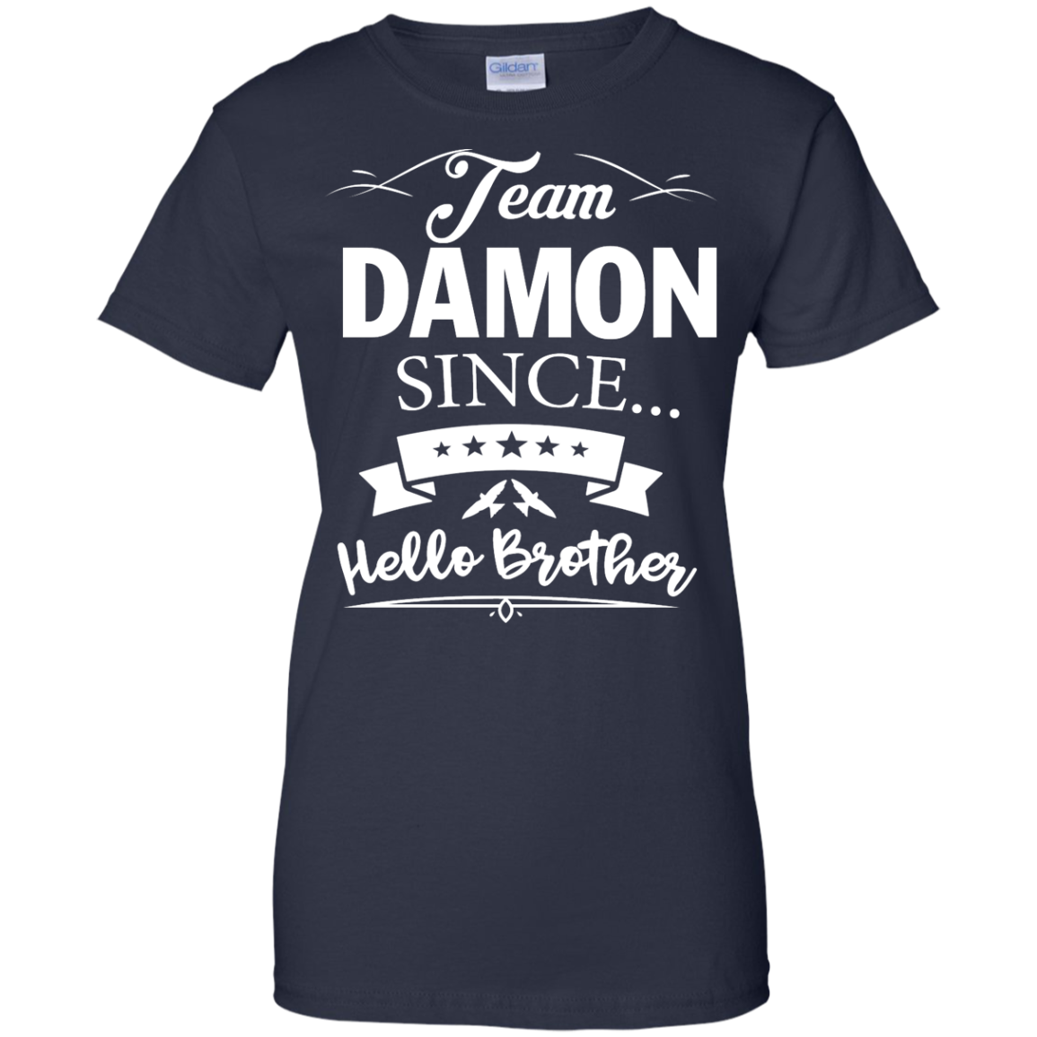 image 672px Team Damon Since Hello Brother. Damon Salvatore T Shirt