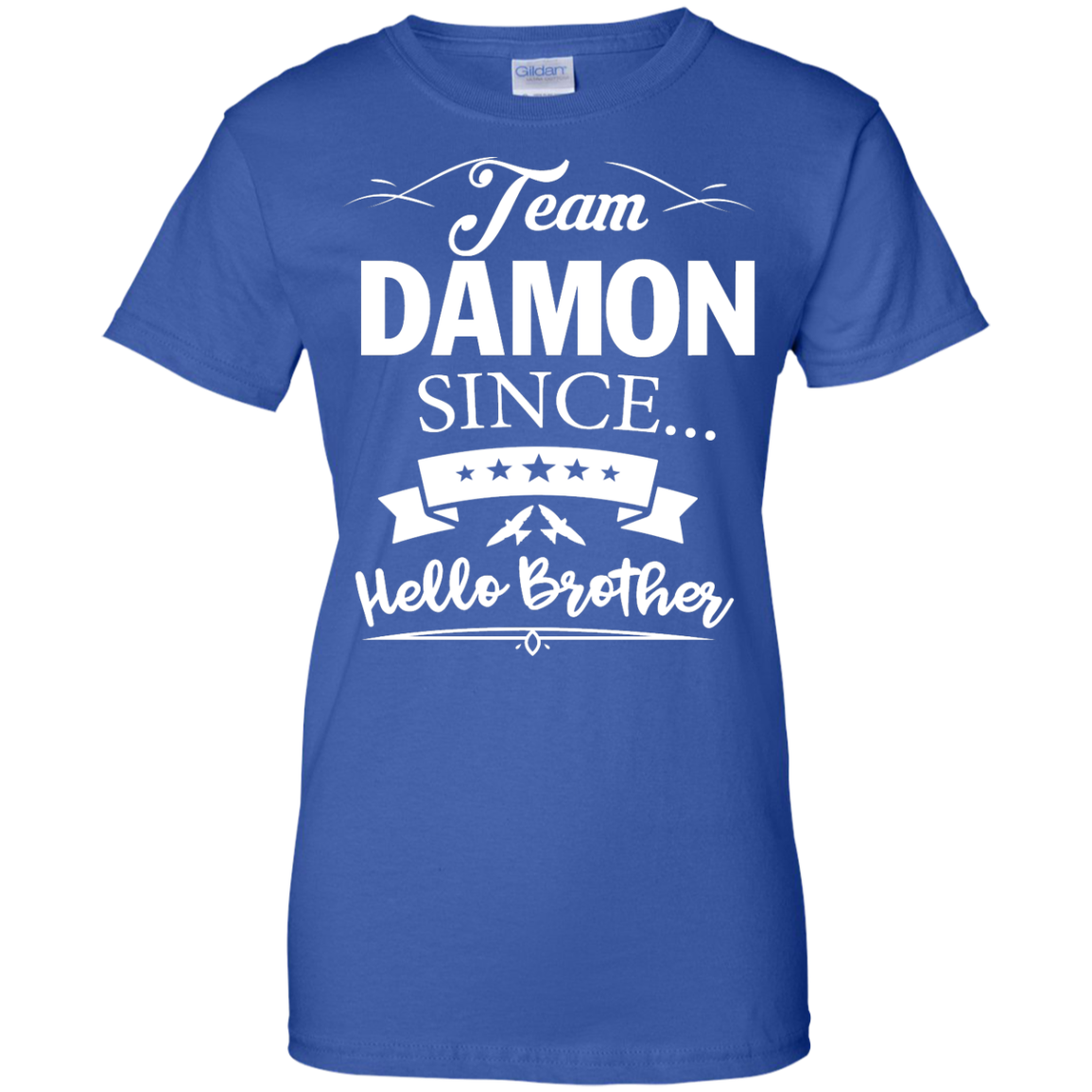 image 673px Team Damon Since Hello Brother. Damon Salvatore T Shirt