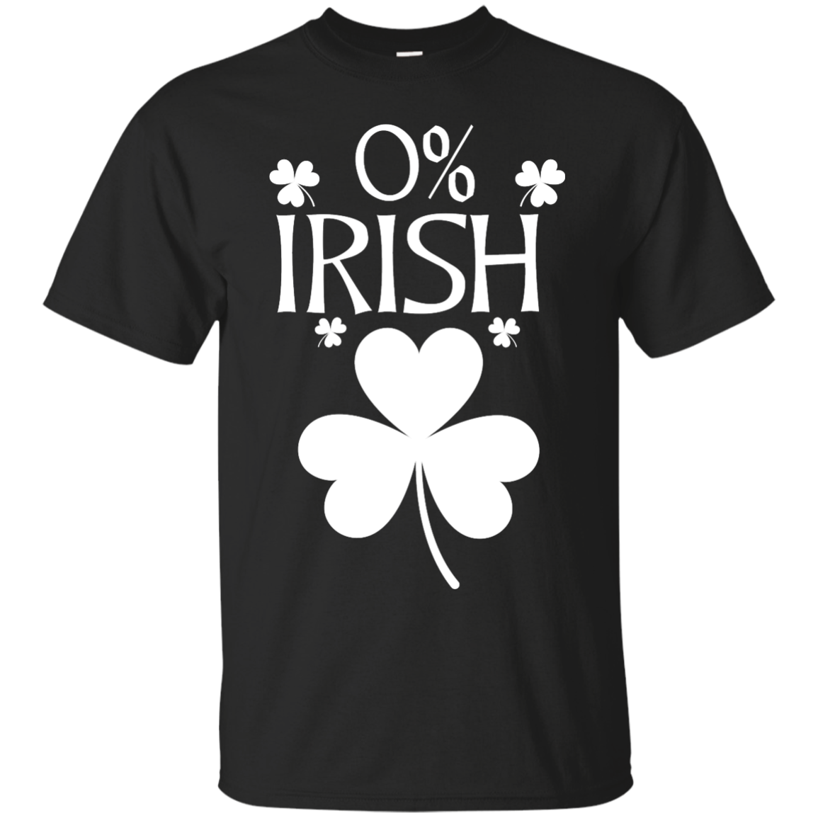 image 674px St Patrick's Day: 0% Irish funny irish t shirt, hoodies, tank