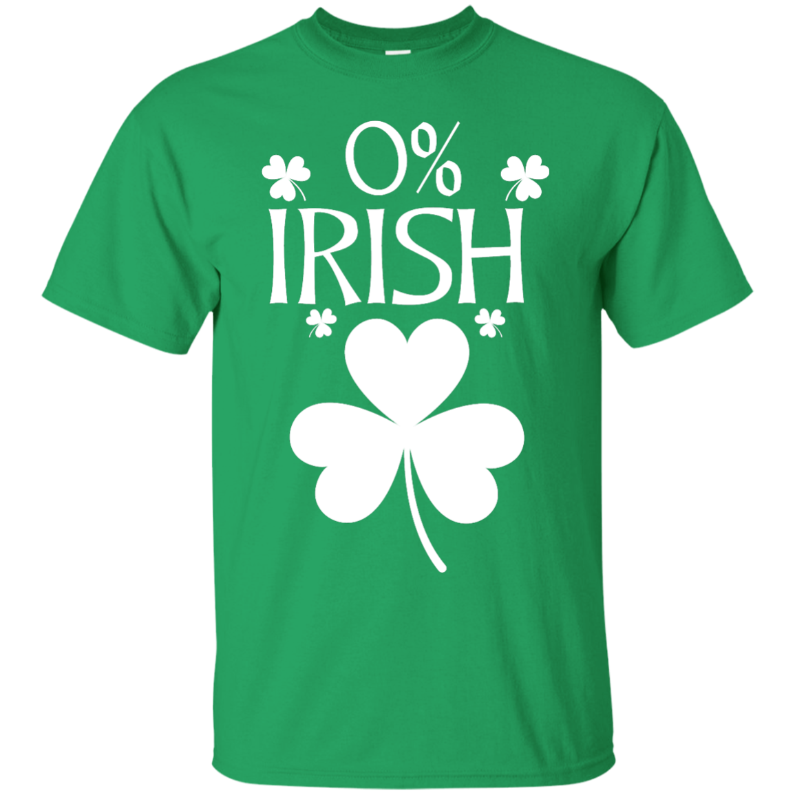 image 675px St Patrick's Day: 0% Irish funny irish t shirt, hoodies, tank