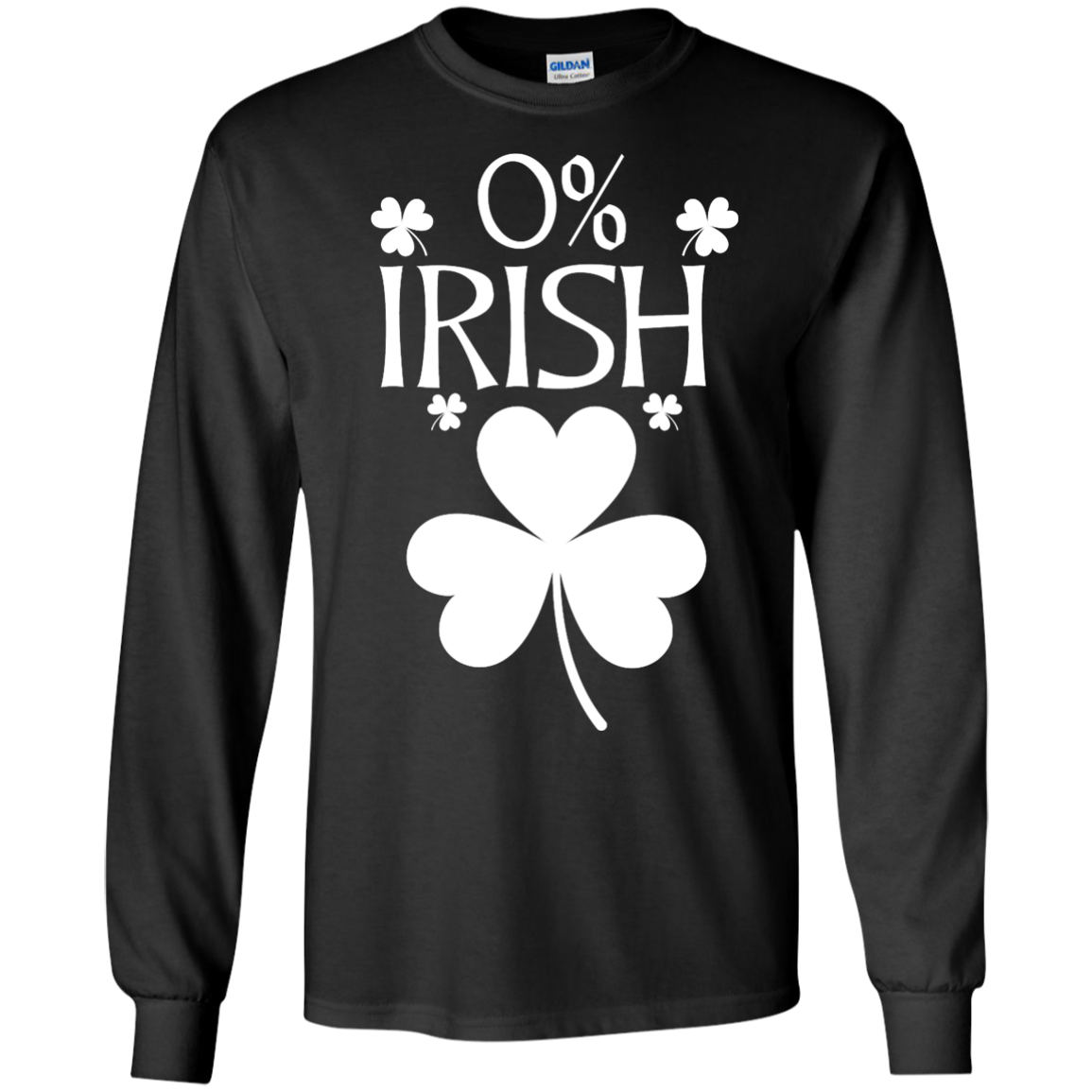 image 678px St Patrick's Day: 0% Irish funny irish t shirt, hoodies, tank
