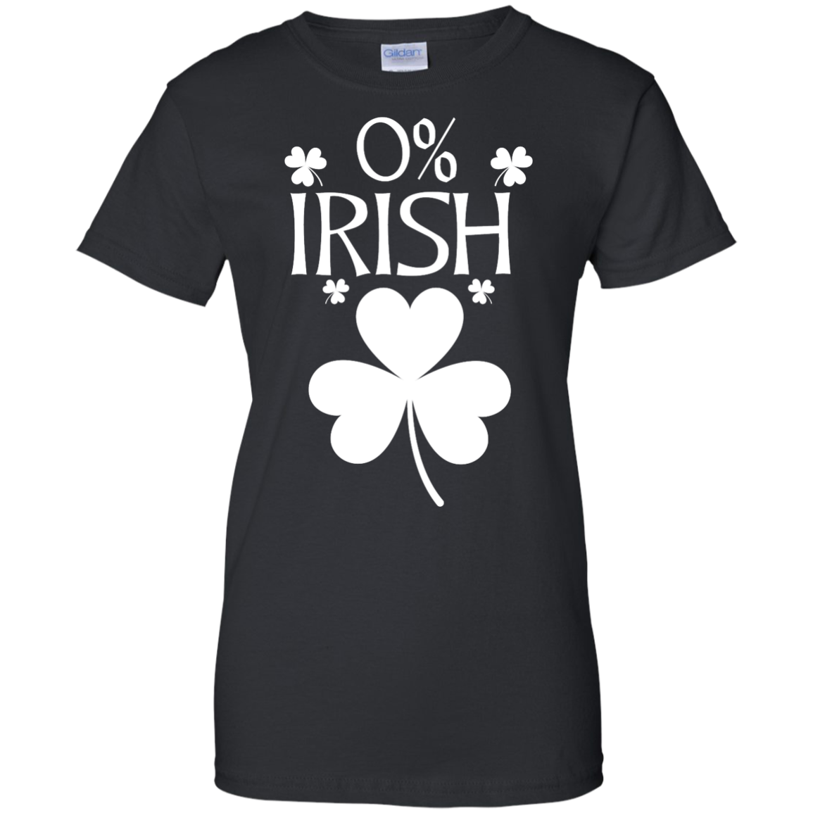 image 684px St Patrick's Day: 0% Irish funny irish t shirt, hoodies, tank